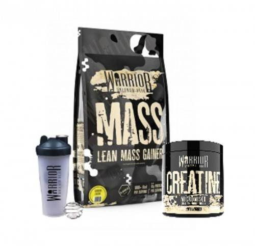 Warrior Mass Lean Mass Gainer 5kg + 2 продукта подарък 1