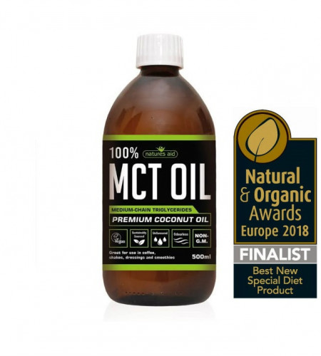 100% MCT Oil 500ml Natures Aid 1