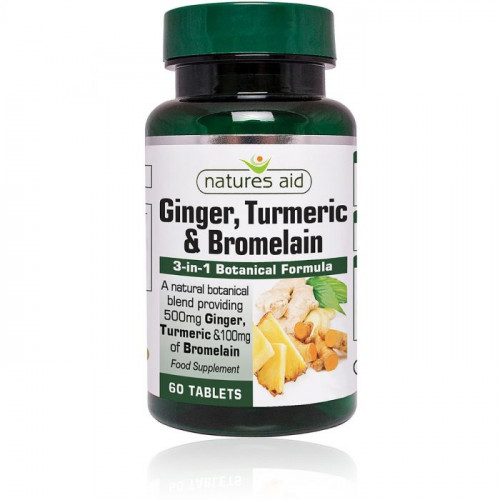 Ginger, Turmeric & Bromelain Natures Aid 1
