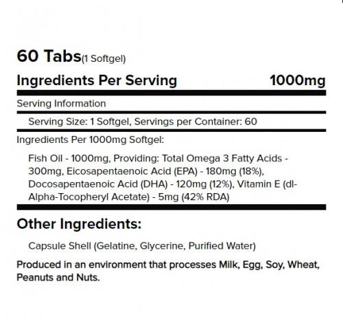 Warrior Omega 3 Fish Oils 1000mg 2