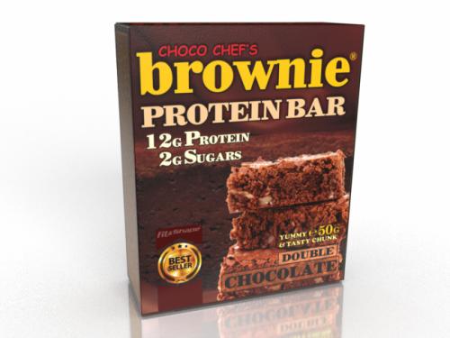 БРАУНИ® Протеин Бар (Двоен Шоколад) - 50гр 1