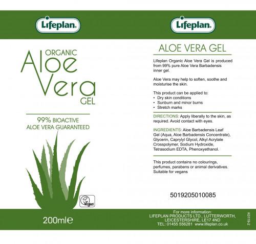 Aloe Vera Gel 200ml Organic 2