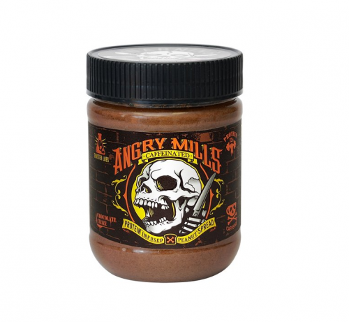 Angry Mills Peanut Spread Caffeinated – 340g / Chocolate 1