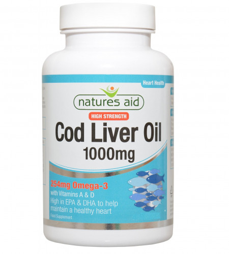 Cod Liver Oil 1000mg Natures Aid 1