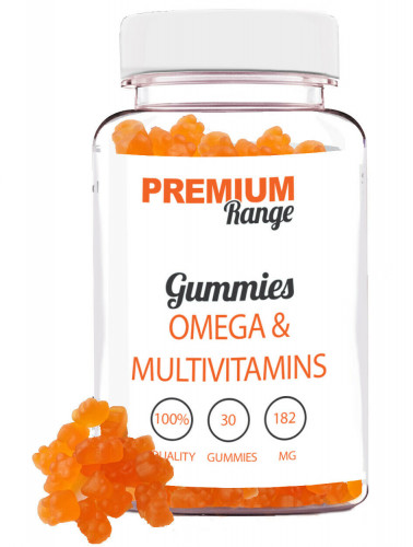 Premium Omega and Multi-Vitamins - 30 Gummies (orange gummy bears) 1