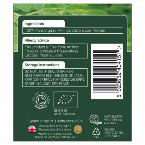 Organic Moringa Natures Aid 150 gr 3