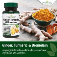 Ginger, Turmeric & Bromelain Natures Aid 2