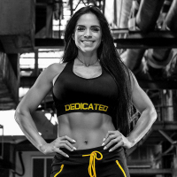 Women Push Up Sports Bra Black Dedicated