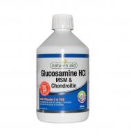 Течен глюкозамин, хондроитин и МСМ 500мл Natures Aid